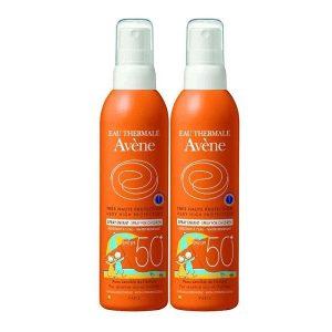 Avene Spray Solar Niños  Piel Sensible Spf50+ 2X200Ml
