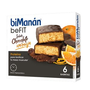 Bimanan - Barritas Be Fit Chocolate Naranja 6U