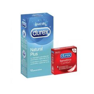 Durex - Natural Plus 12U + Regalo Sensitivo Suave 3U