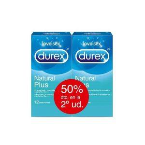 Durex - Natural Plus Easy On 12 Preservativos+12 Preservativos (50% Descuento 2ªud)