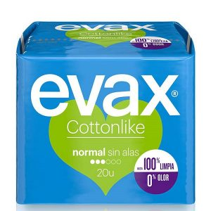 Evax - Cottonlike Compresa Normal Sin Alas 20Uds