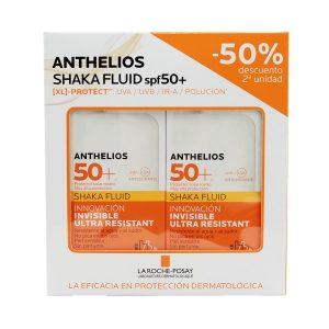 La Roche Posay - Anthelios Pack Duplo Shaka Xl Spf50+ Fluido Facial Sin Perfume 50ml
