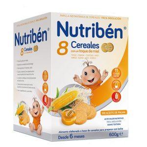 Nutriben 8 cereales galleta maria 600g