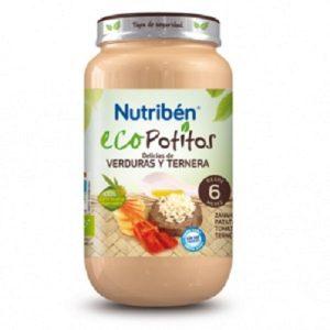 Nutriben - Ecopotito Delicias De Verdura Y Ternera 6 Meses (250G)