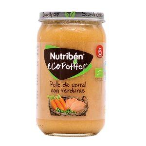 Nutribén Ecopotitos Pollo de Corral con Verduras 235gr