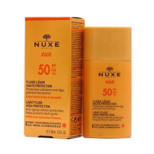 Nuxe Sun Fluido Ligero Alta Protección Antiedad 50Spf 50Ml