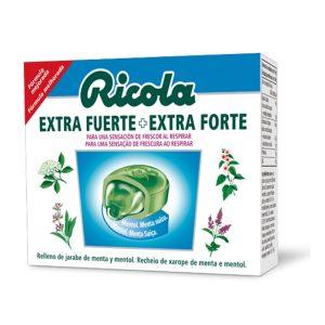 Ricola - Caramelos Extrafuerte Menta Glacial 51G