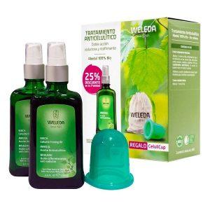 Weleda Pack Tratamiento Anticelulitico Aceite Abedul 100 Ml Duplo + Regalo Celulicup